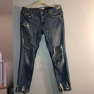 Zara womens Jeans with rips